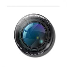 מגנט מגניב בעיצוב עדשת זום מצלמת רטרטו ZOOM