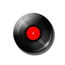 מגנט מגניב בעיצוב תקליט ויניל רטרו Retro vinyl records