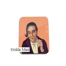 תחתית לספל מגניבה באיור בדמותה של גולדה מאיר - Golda Meir