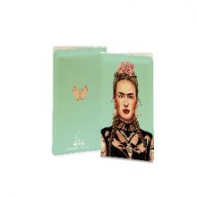 כיסוי לדרכון מגניב באיור בדמותה של פרידה קאלו - Frida Kahlo