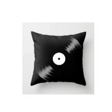 כרית מהממת בהדפס תקליט ויניל ברקע שחור רטרו