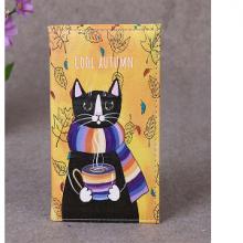 כיסוי לדרכון מאויר בחתול COOL AUTUMN
