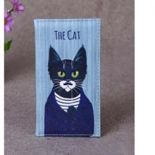כיסוי לדרכון מאויר בחתול THE CAT