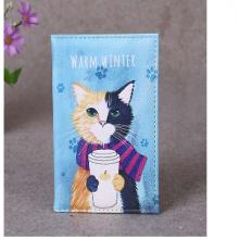 כיסוי לדרכון מאויר בחתול WARM WINTER